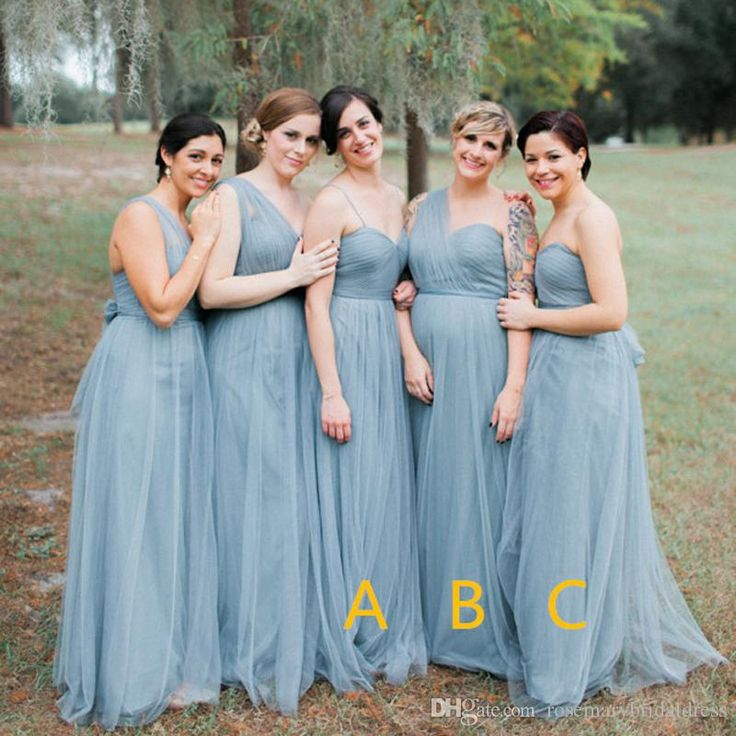Grey Tulle Bridesmaid Dresses One Shoulder Fancy Country Wedding Guest Gowns La Dama De Honor Special Occasion Dresses Bridesmaid Dresses Prom Dress Evening Gowns Online with $136.0/Piece on Rosemarybridaldress's Store | DHgate.com
