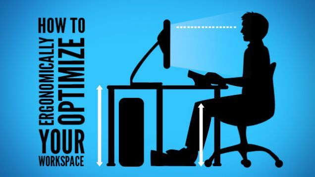 We spend a lot of time sitting at our desks every day, and while it may not look like it, it can wreak havoc with our bodies. Here's how to set up a healthy, ergonomic workspace to keep you comfortable and injury-free.
