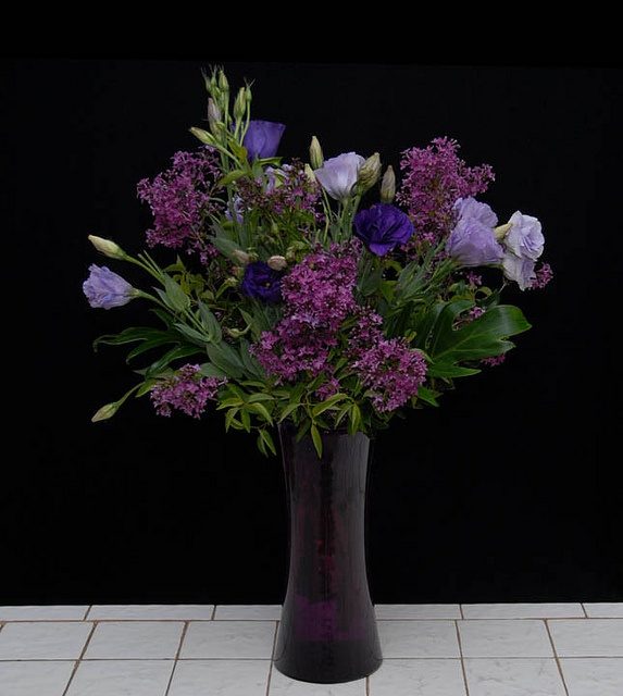 Lilacs and Lisianthus from  Rittners Floral School, Boston, Ma. www.floralschool.com