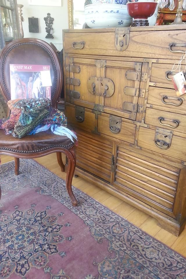 'prancing-ballet-tip -toe' walnut framed dining chairs Stamped underneath with maker's mark ' Skelton, Sheffield' next to a fine, A Japanese light paulownia tansu chest,