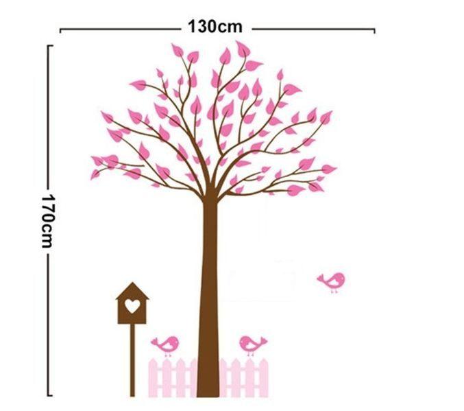 Luxe muursticker boom (roze)   - Bomen   stickerkamer