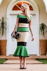 marina casemiro, look da noite, vestido bandagem midi tricolor babado, verde, preto, nude, zaus boutique ribeirão preto (4)