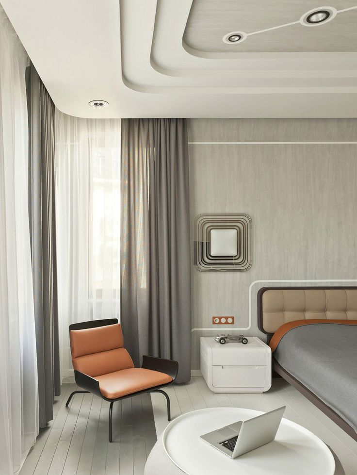 Bedroom_Retro-Futurism by Nikolay Tsupikov
