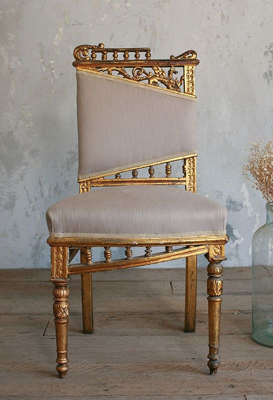 Vintage Gilt Side Chair