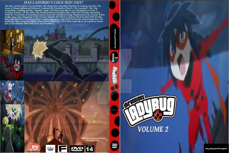 Miraculous Ladybug Fake Anime Volume 2 DVD Cover by DrMuttonchops