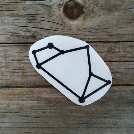 Sagittarius Constellation vinyl sticker Car by meddlemedia on Etsy