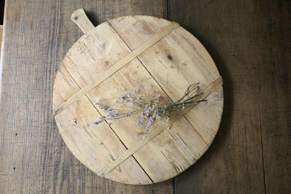 Large Vintage French Rustic Bread Board Wooden by FoundByHer