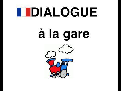 à la gare - dialogue FLE situation à la gare SNCF