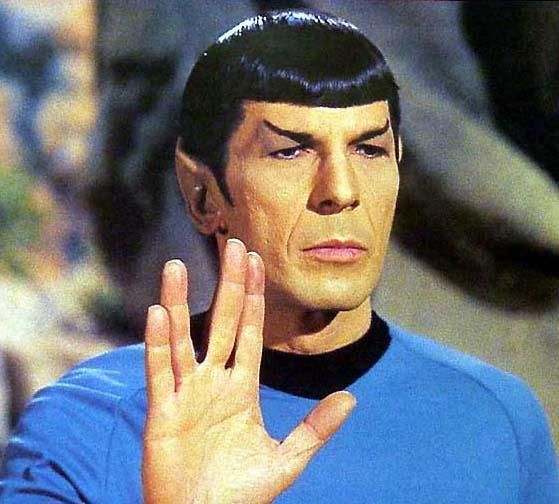 Mr Spock. I had a crush on him when I was a little girl and I was convinced that I would marry him when I grew up.