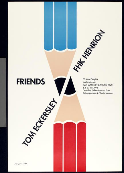 Deutsches Plakat Museum exhibition poster 1993 | Tom Eckersley: Poster Design, Exhibitions Poster, Tomeckersley, Eckersley Toms, Museums Exhibitions, Graphics Design, Advertisingexhibit Poster, Eckersley Poster, Toms Eckersley