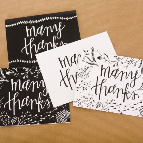 Thank You cards; free printable. You can also cut them to a smaller size and make a label.