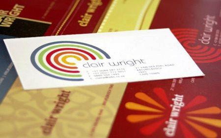 25 best 21 Desain Kartu Nama Full Color Warna-warni images ...