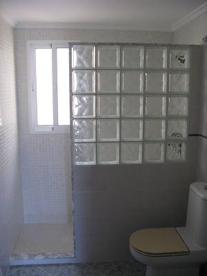 Glass block shower                                                       …