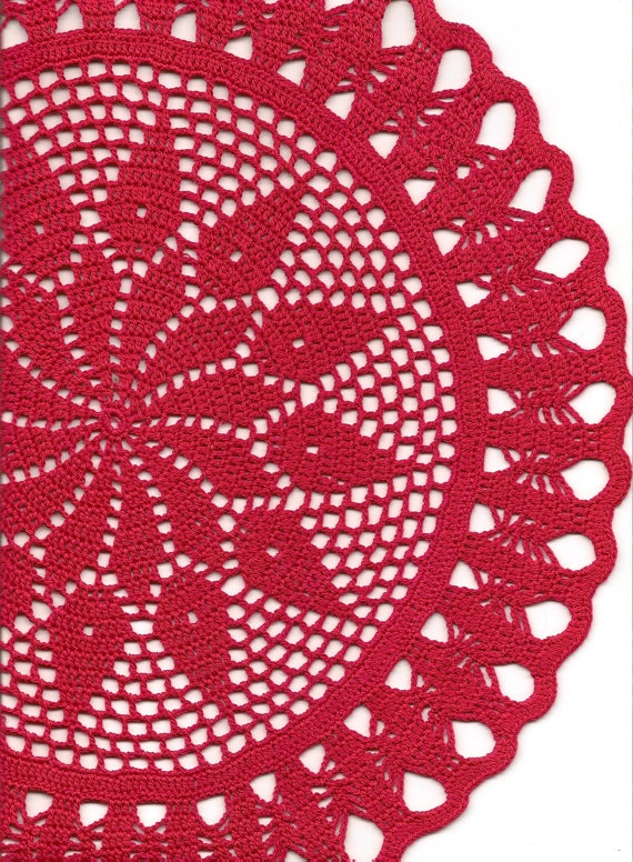 Crochet doily lace doily table decoration by faustapink900 on Etsy, £10.00