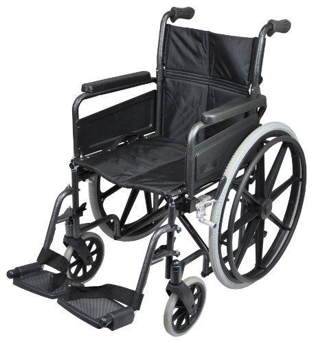 Aidapt VA167 Deluxe Greifreifen-Rollstuhl aus Stahl