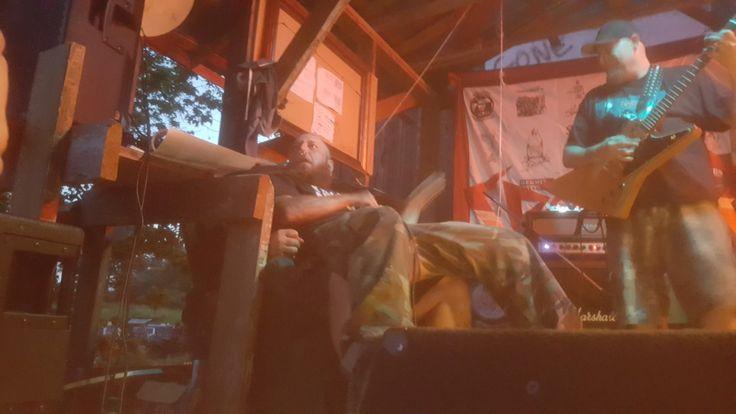 Punch Drunk, haha Damon sitting on Dan at spiderfest July 2017