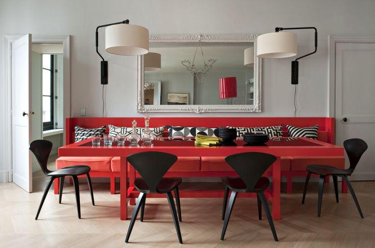 Parisian apartment showcasing a stylish color palette