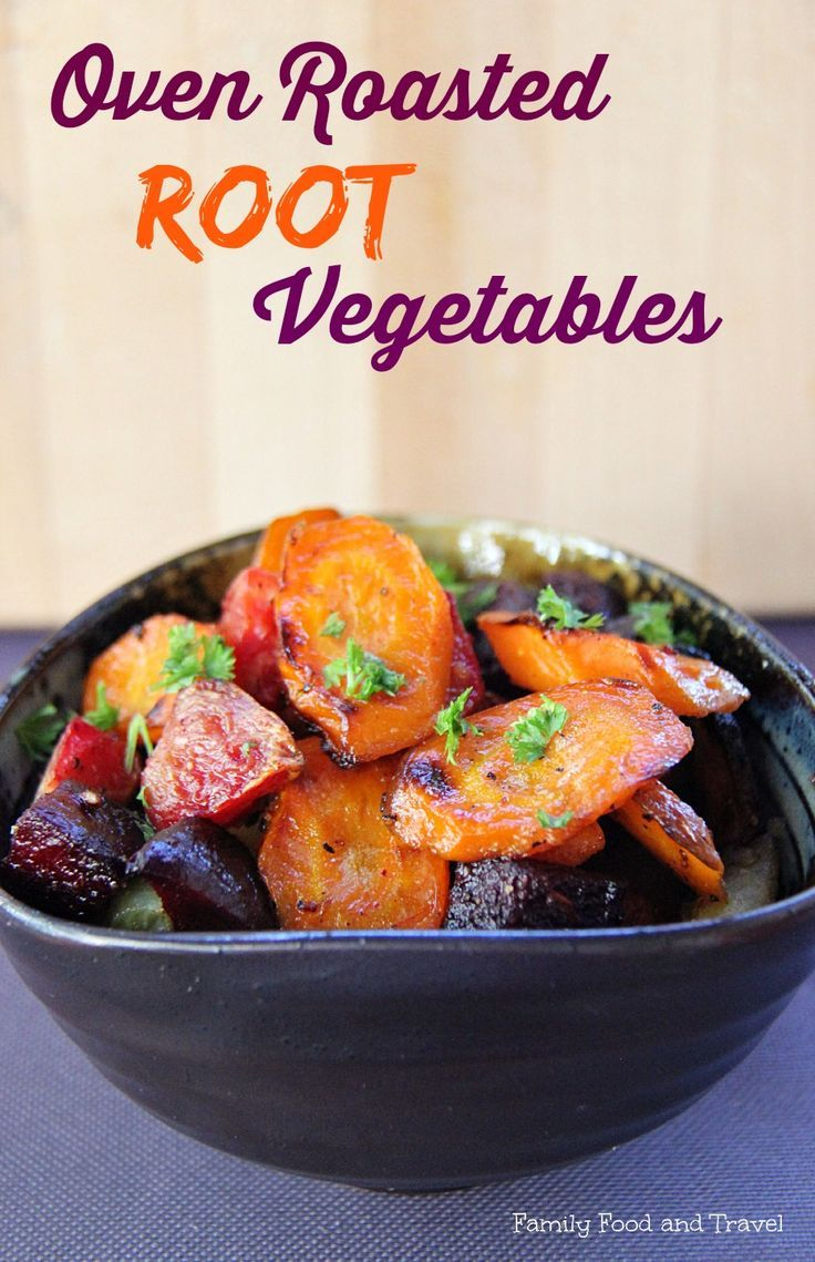 oven roasted root vegetables - a perfect Fall side dish