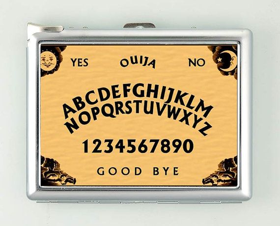 Ouija Board Cigarette Case with Lighter Wallet Business Card Holder ***********************************  We sell only case & lighter. We do not sell