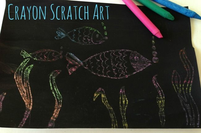 Crayon Art: How To Scratch Art with Wax Crayons