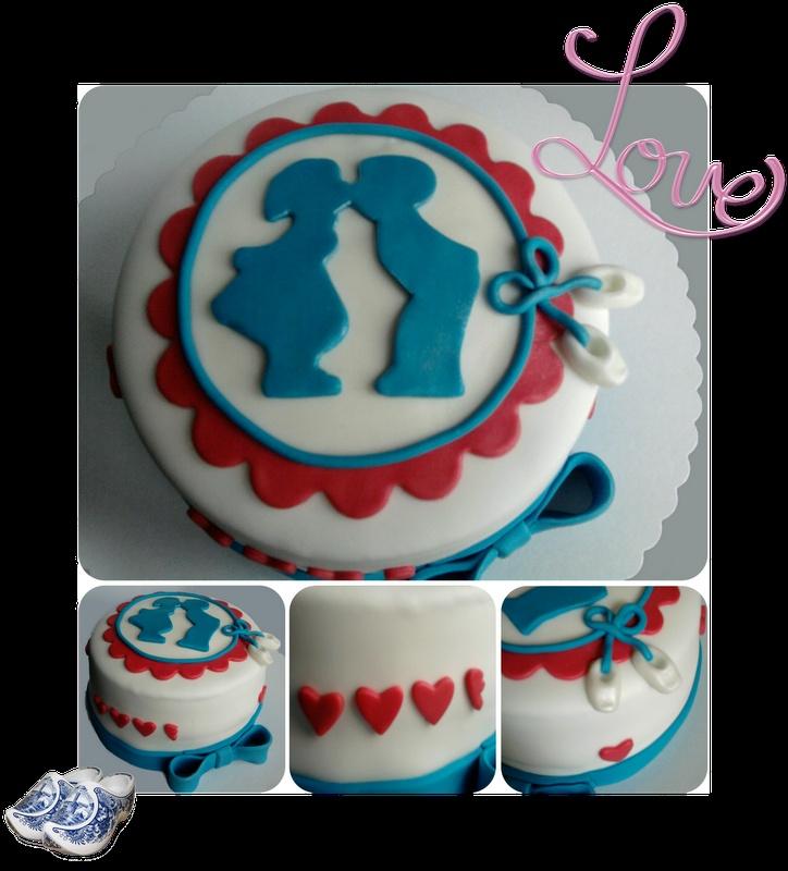 love cake, delfts blauw taartje