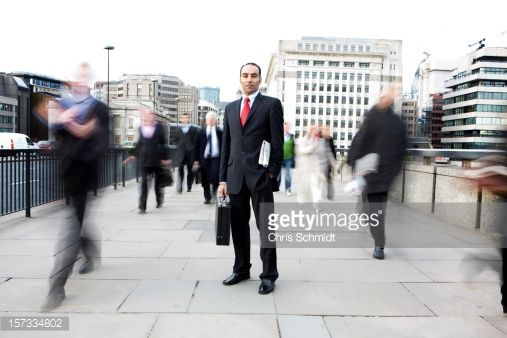 Stock Photo : standing out from the crowd