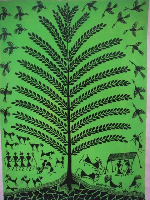 Tree Of Life (Warli Painting )