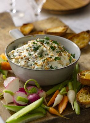 Warm Blue-Cheese Dip    Recipe for Morton's The Steakhouse Appetizer  Serve with crackers, baguette slices, veggies, or oven toasted pita wedges.