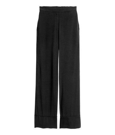 Wide-cut Pants | Black | Ladies | H&M US