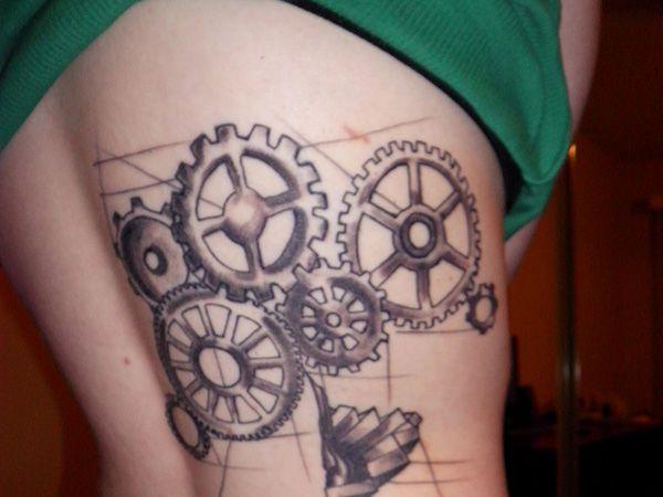Steampunk Tattoos for Women | side steampunk tattoo 27 Incredible Steampunk Tattoo Idea Collection