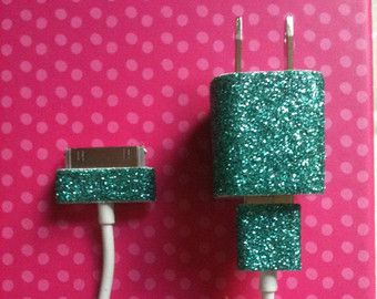 Phone charger-  Put mod pogde  glue on the area u want to Sparkle Then before it drys dip it in a bowl of sparkles Last let it dry for 30-40 minutes Enjoy!!