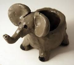 Image result for animal clay pots'