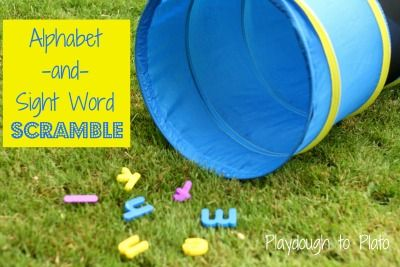 Alphabet and Sight Word Scramble. An active way to build children's memory of letters or sight words.