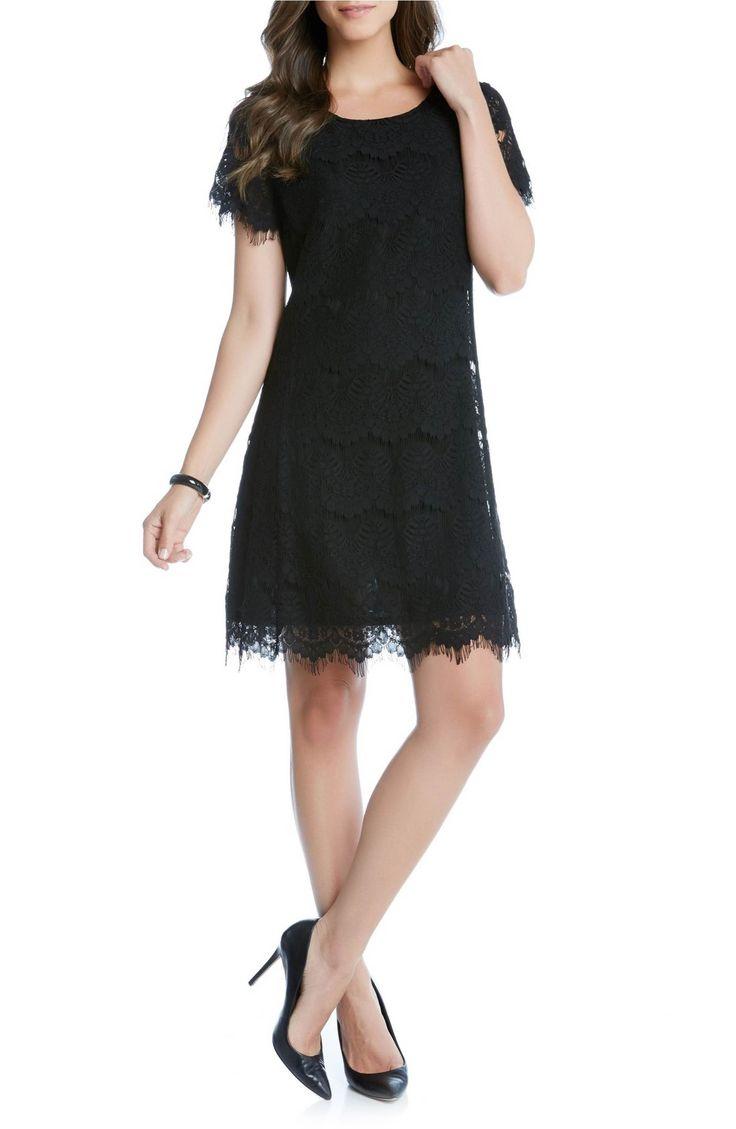 Main Image - Karen Kane Lace A-Line Dress