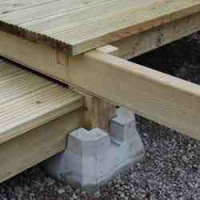 550 best images about patios paths walkways on pinterest Floating deck cinder blocks