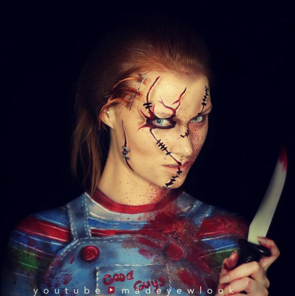 Chucky - The Most Hauntingly Gorgeous Halloween Makeup Looks on Instagram - Photos