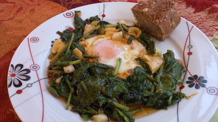 Egg and spinach...!!!