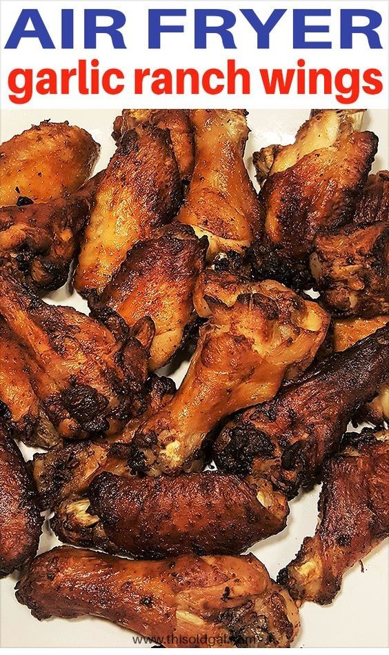 Air Fryer Garlic Ranch Wings | Easy Air Fryer Recipes #foodrestock