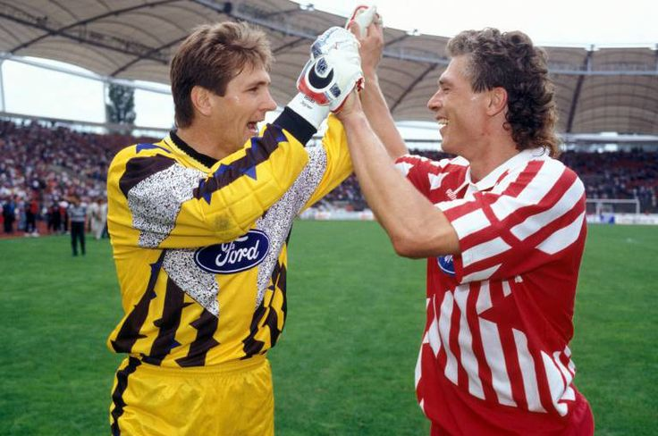 "1. FC. Köln's Bodo Illgner and Anton ""Toni"" Polster.  They played together at Köln for three years."