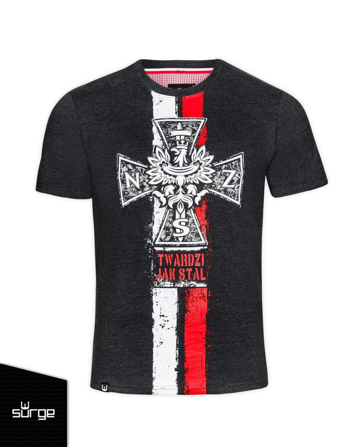 Koszulka patriotyczna Krzyż NSZ flaga | KOSZULKI \ KRÓTKI RĘKAW | Sklep z koszulkami Polski i odzieżą patriotyczną ● Przepnij Pina! Pomóż nam promować ideę nowoczesnego patriotyzmu. SurgePolonia