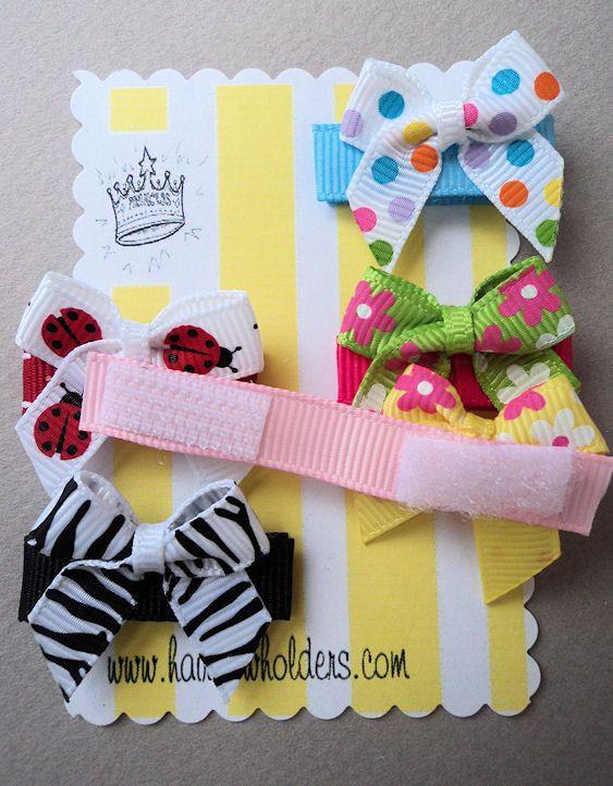 NeWbOrN Velcro HAIR BOWS for baby girl INFANT hair clips ....