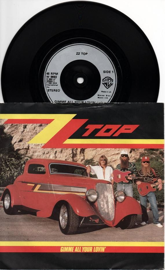Zz Top Gimme All Your Lovin 1983 Uk Issue Original 7 45 Rpm Vinyl Single Record Music Rock Pop 80s Blues Swamp Texas Bbq W9693 Zz Top Single Record Records