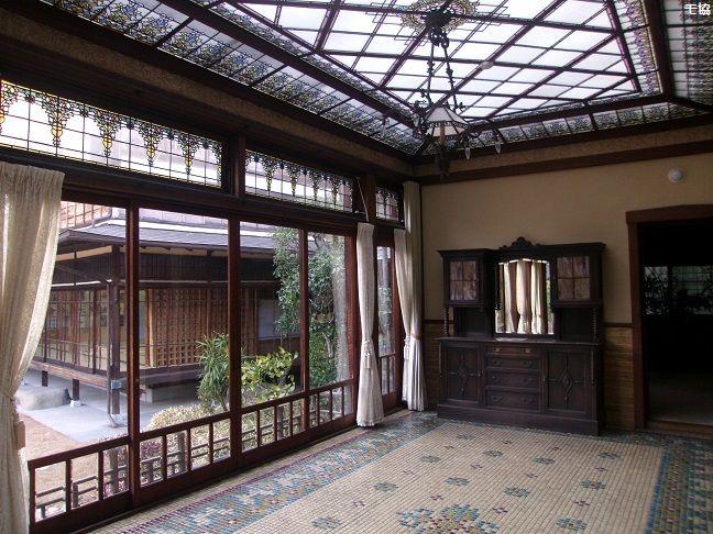 起雲閣-洋館・玉姫 Sunroom Built in 1932 Japan