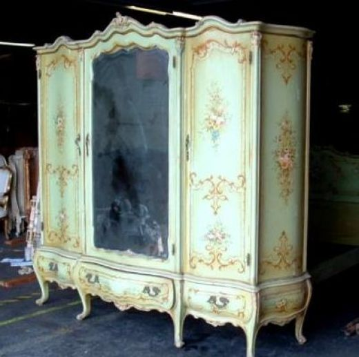 antique furniture armoire. italian venetian bombe mirror armoire from the early 20th century antique furniture