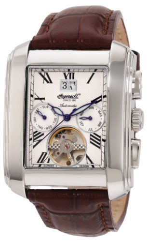 Ingersoll Men's IN8200WH Automatic Georgia Watch Ingersoll. $450.00. Exhibition back; Luminescent hands. Open balance-wheel. Automatic movement. Roman numerals. Water-resistant to 99 feet (30 M)