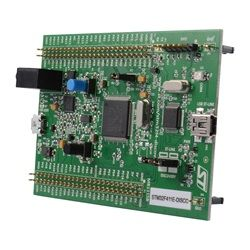 The STM32F4 is a nice low-cost option if you're looking for a dev board for your next design. With 192KB of RAM and 1MB of on-board flash memory, this board also features an on-board digital microphone and a one-audio DAC. It also includes an integrated class D speaker driver -- meaning this is a great choice for audio applications.