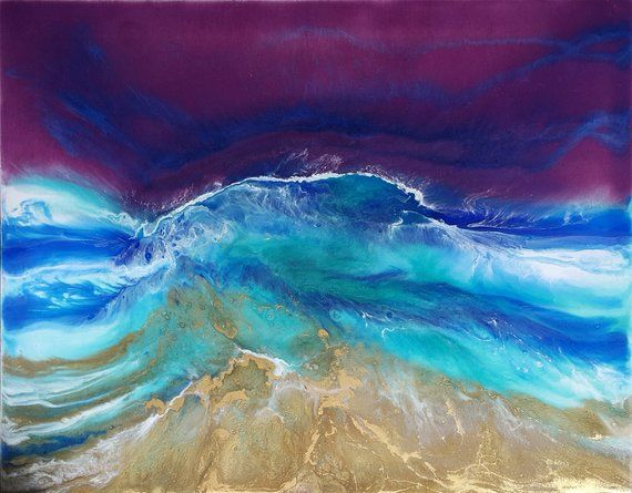 Abstract Painting resin