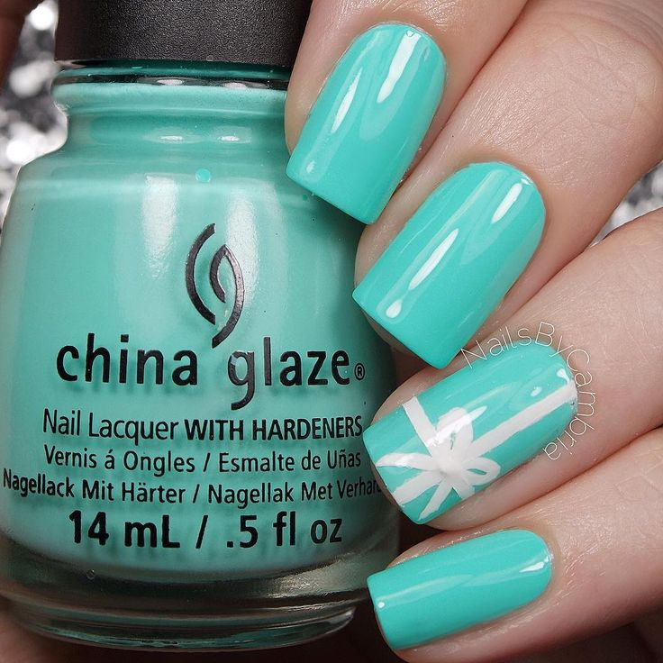Tiffany Blue Nails Inspired by Tiffany & Co.