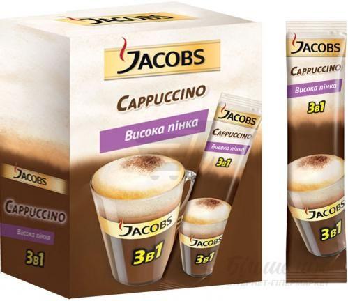 Кавовий напій Jacobs 3 в 1 Cappuccino 12,5 г   - фото 1