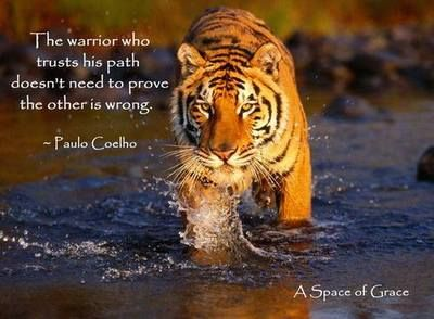 The warrior who trusts his path doesn't need to prove the other is... | Paulo Coelho Picture Quotes | Quoteswave